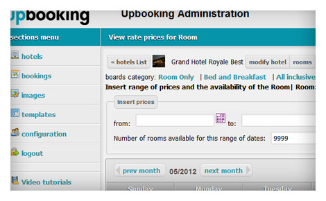 Free Reservation System Booking Engine White Label Upbooking